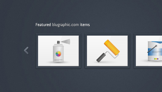 Featured Items Carousel (PSD)
