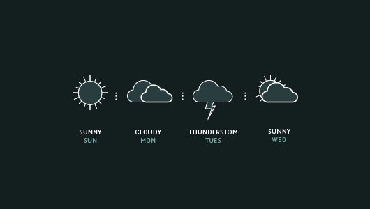4 Weather Forecast Vector Icons