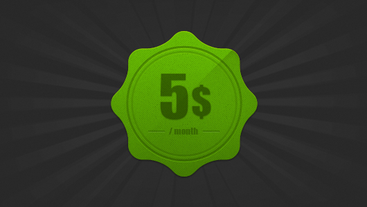 Photoshop Green Curvy Badge (Psd)