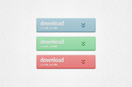 Big Lovely Download Buttons (Psd)