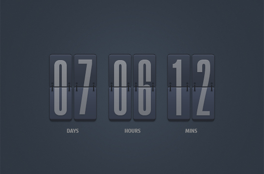 Countdown Flip Clock (Psd)