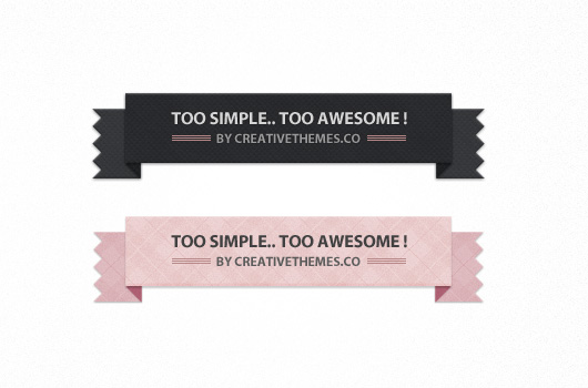 2 Pretty Modern Ribbons (Psd)