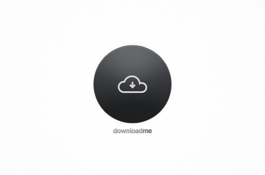 Rounded Download Button (Psd)