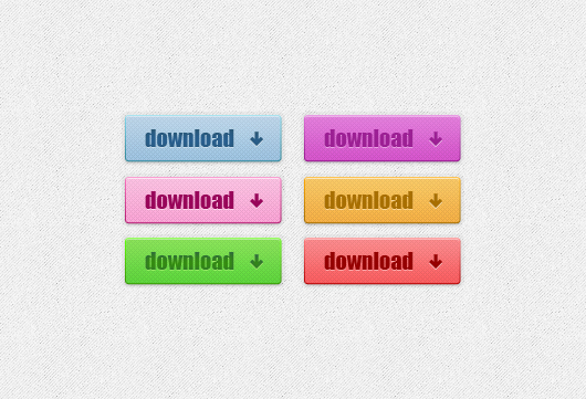 6 Colored Download Psd Buttons