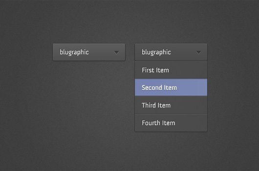 Dark Drop Down Menu (PSD)