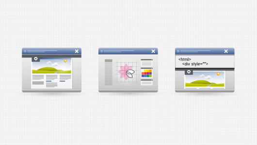 3 Desktop Interface Icons (Vector)