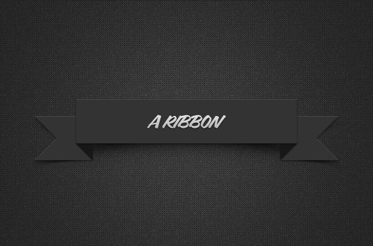 Shadowed Dark Ribbon (Psd)