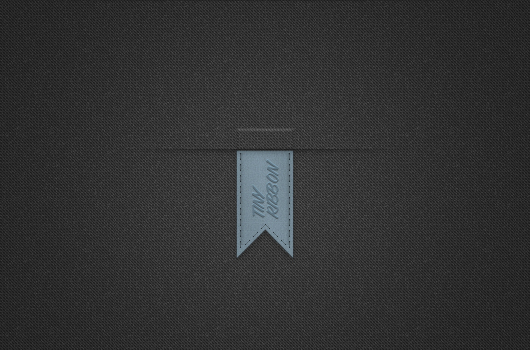 Tiny Vertical Blue Ribbon (Psd)
