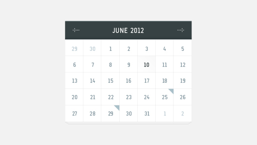 Free Pretty Vector Calender (Vector)