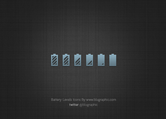 Battery Levels Icons (Psd)