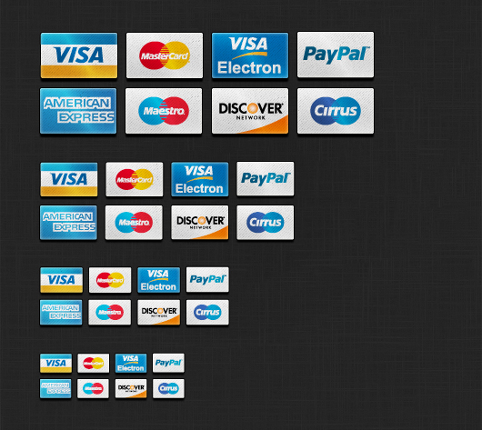 Credit Card Icons Set (Psd)