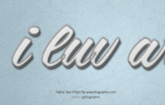 Fabric Text Effect Photoshop