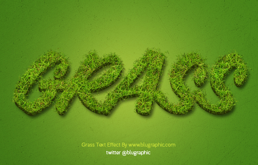 Grass Text Effect - 2