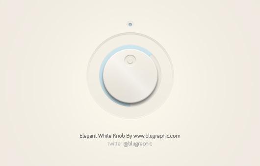 Elegant White Knob (Psd)