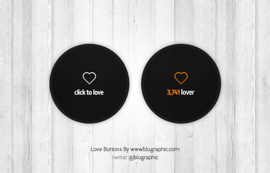 Love Count Buttons (Psd)
