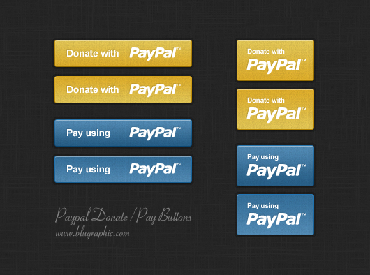 paypal donation  u0026 payment buttons  psd