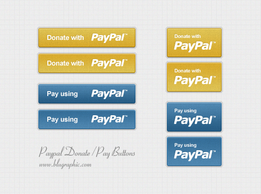 Paypal Donation & Payment Buttons (Psd)