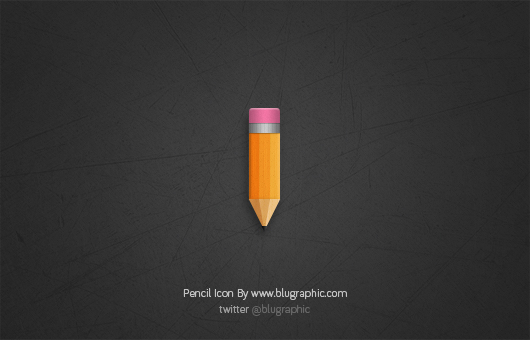 Short Pencil Icon (Psd)