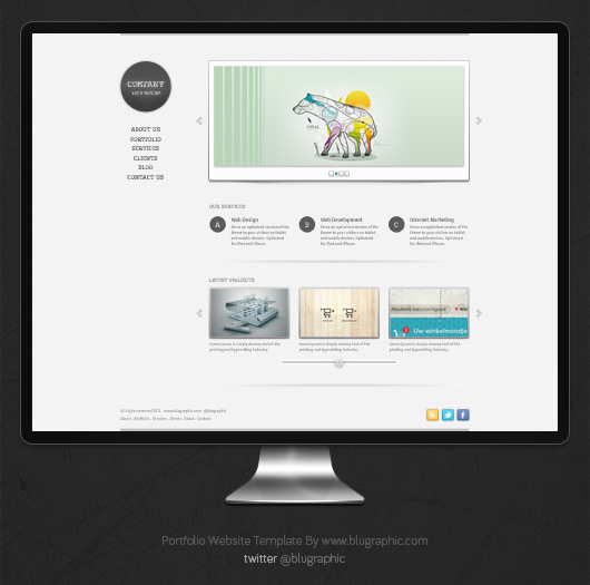 free portfolio website template psd