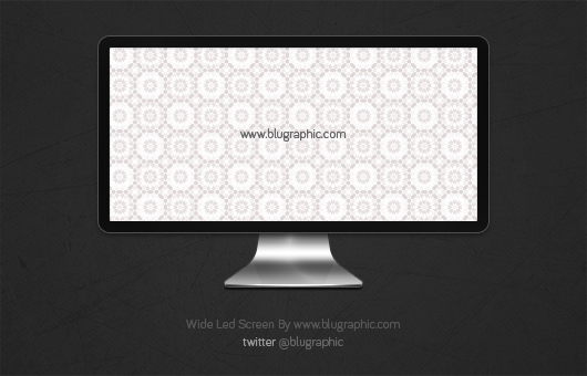 Wide LED Apple Screen (Psd)