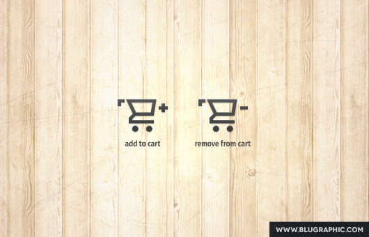 Add / Remove Shopping Cart Icons (Psd)