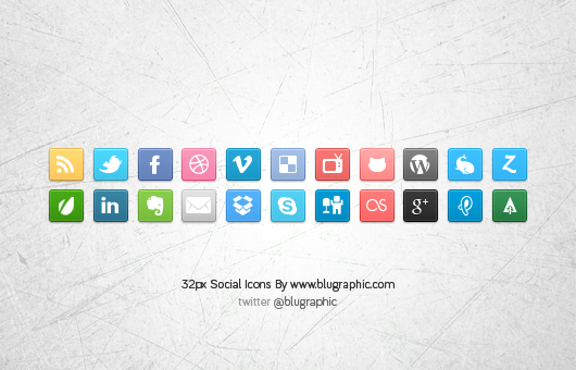 22 Social Media Icons (Vector / Psd)