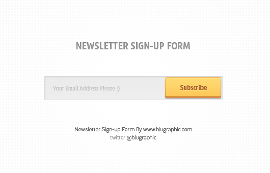 Subscribe to Newsletter Form (Psd)