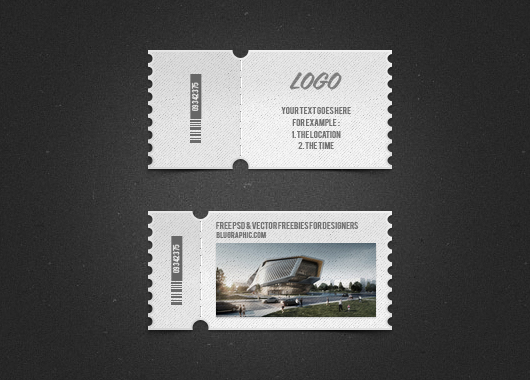 2 psd cute tickets photoshop for Concert ticket template psd