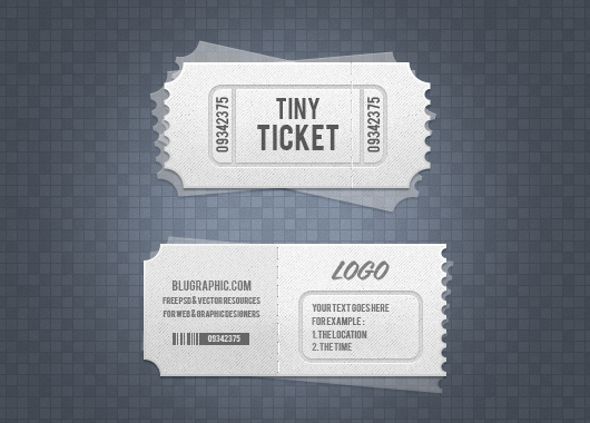 Event / Admission Tickets (Psd)