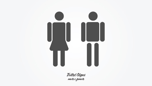 Toilet / Bathroom Signs (Male &amp; Female)