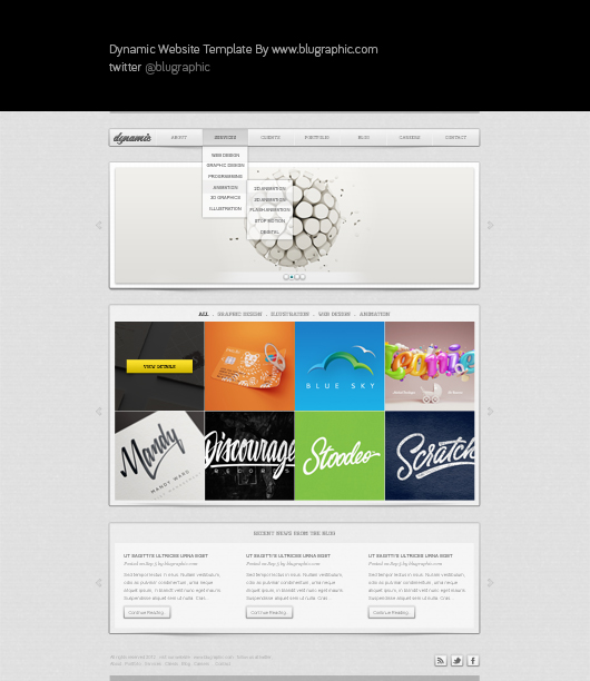 Dynamic : Free General Website Template (Psd)