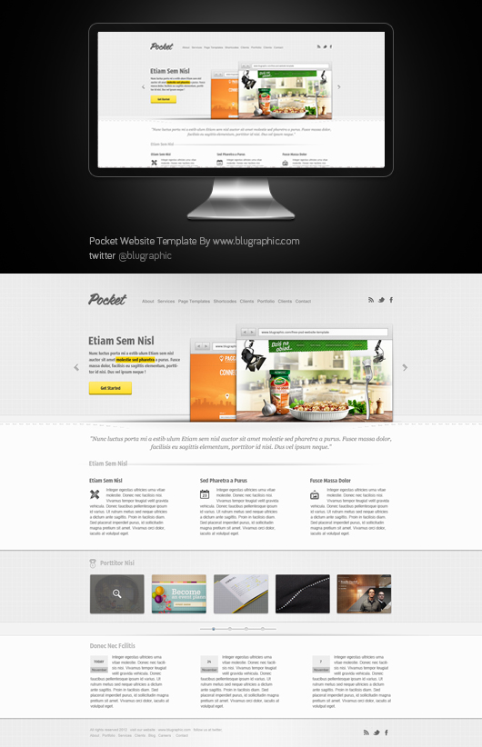 Pocket Website Theme Template (Psd)