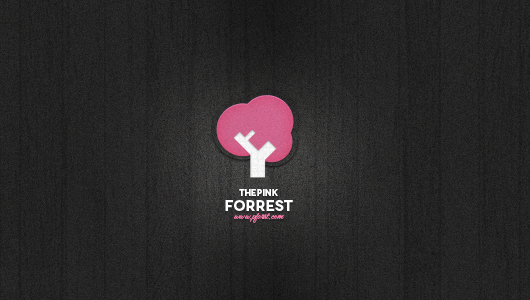 Pink Tree Logo Template (Psd)