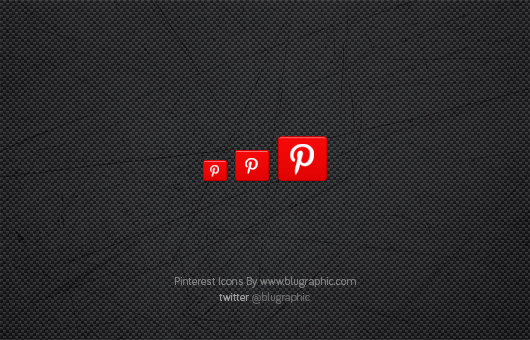 Clean Pinterest Icons (Psd)