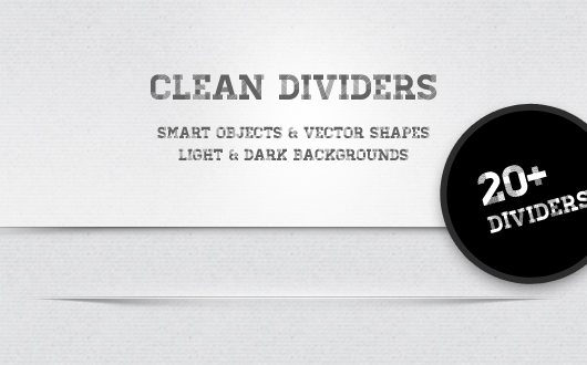 21 Clean Web Separators (Psd)