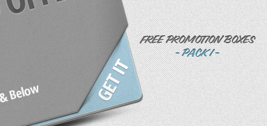 Promotion Boxes (Psd) – Pack I