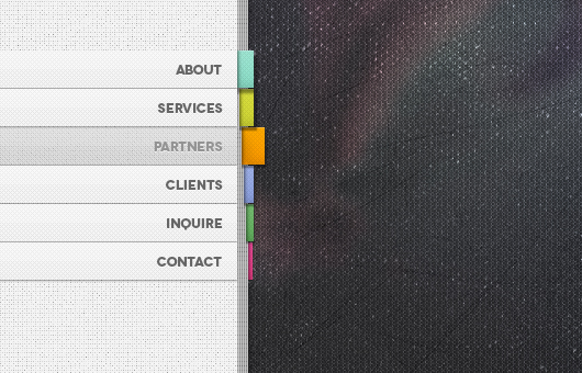 Vertical Book Style Menu (Psd)