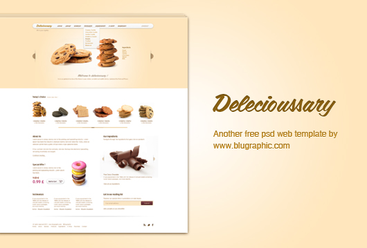 Delecioussary &#8211; Cookies Website Template (Psd)