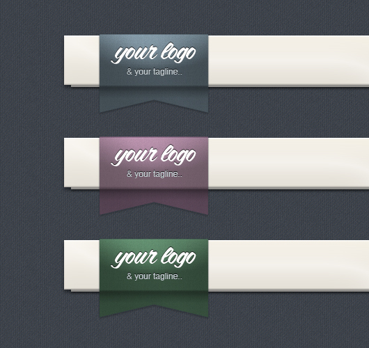 Header Ribbon Logo - Dark