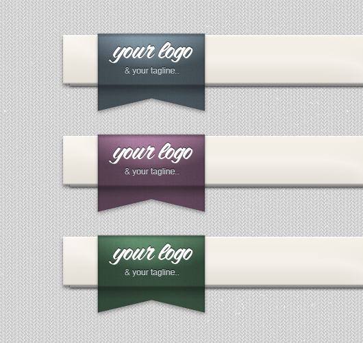 Header Ribbon Logo - PSD