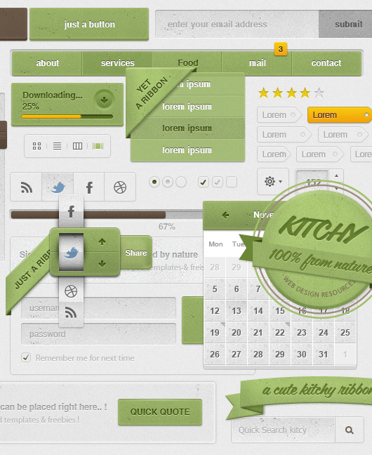 Kitchy Ui Kit – Restaurant & Food Theme (Psd)
