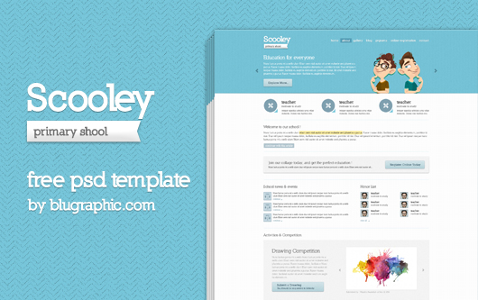 Primary School Website Theme (Psd)