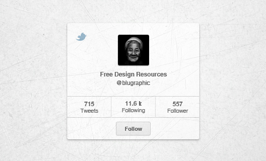 Little Clean Twitter Widget (Psd)