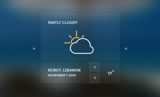 Web Weather Forecast Widget (Psd)