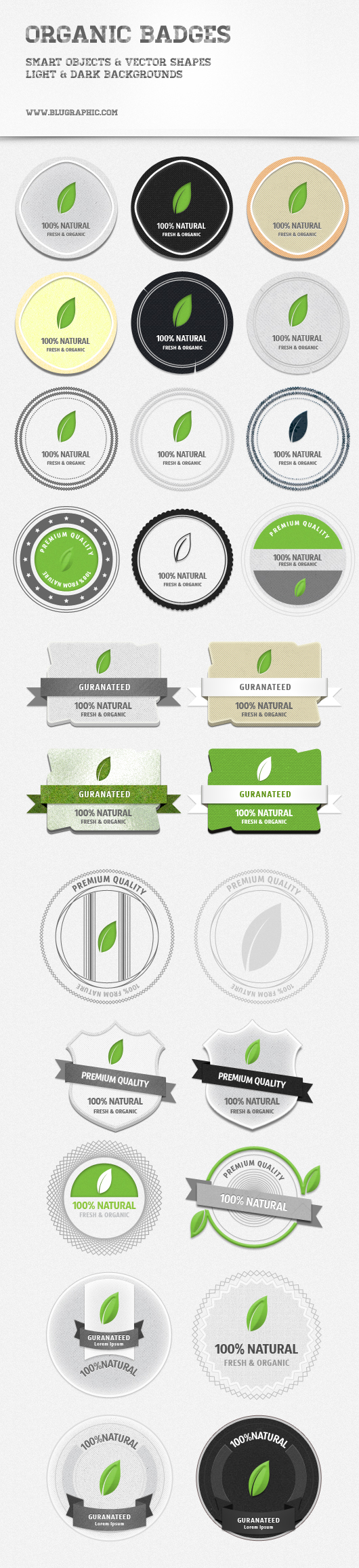 Organic Psd Badges