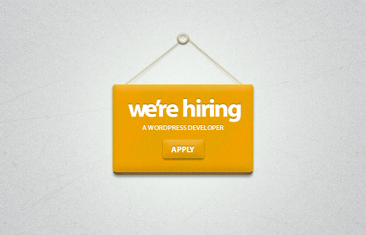 We&#8217;re Hiring Badge (Psd)