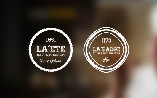 Retro Photo Badges - Psd