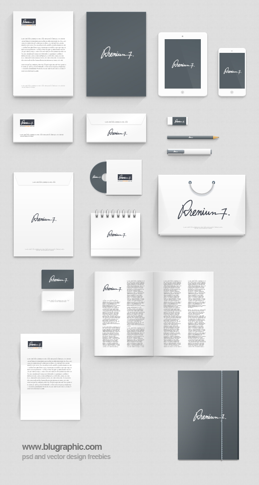 corporate identity photoshop mock-up (psd), Powerpoint templates