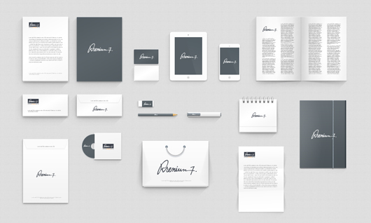 corporate identity photoshop mock up psd