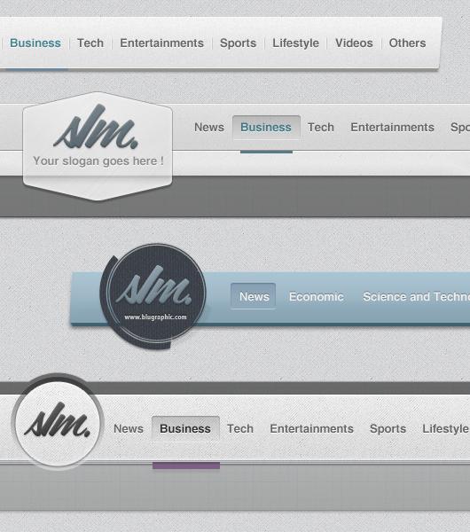 psd web header